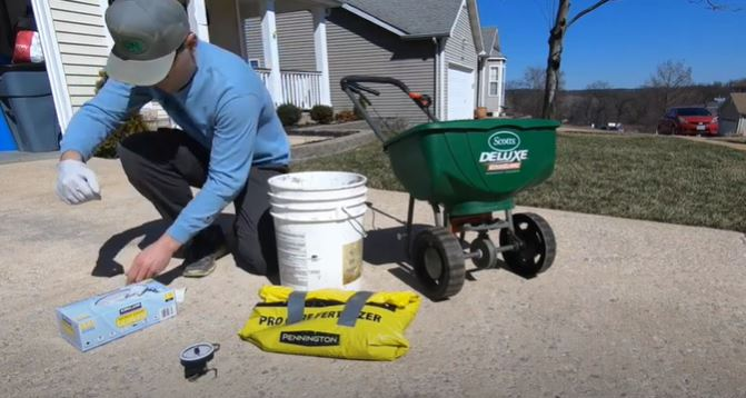 STEP 4: Treat your lawn with pre-emergent herbicide